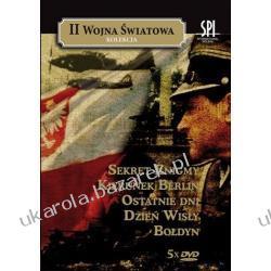 Pakiet II Wojna Światowa 5 Dvd Petelski Czesław (Reż) BOŁDYN, DZIEŃ WISŁY, SEKRET ENIGMY, KIERUNEK BERLIN, OSTATNIE DNI