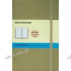 Moleskine Soft Cover Khaki Beige Pocket Dotted Notebook Kalendarze książkowe