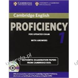 Cambridge English Proficiency 1 for Updated Exam Self-study Pack (Student's Book with Answers and Audio CDs (2)): Authentic Examination Papers from Cambridge ESOL (CPE Practice Tests) Kalendarze książkowe