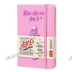 Moleskine Alice in Wonderland Limited Edition Pink Hard Ruled Pocket Notebook Sztuka, malarstwo i rzeźba