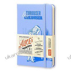 Moleskine Alice in Wonderland Limited Edition Blue Hard Plain Pocket Notebook Podręczniki i ćwiczenia