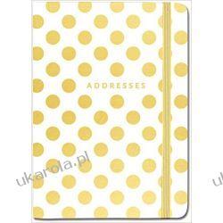 Adresownik Notes Gold Dots Address Book Złote Kropki Adresowniki, pamiętniki