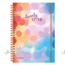Kalendarz książkowy Collins A5 Disco 2017-2018 Week to View Polypro Student Diary