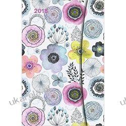 Kalendarz książkowy 2018 Abstract Flowers Diary Magneto Calendar Kwiaty 10x15cm
