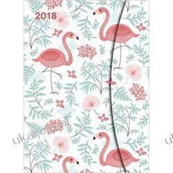 Kalendarz książkowy Flamingi 2018 Tropical Calendar Large Magneto Diary 16 x 22 cm