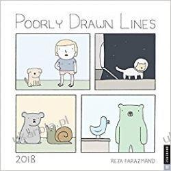 Kalendarz Poorly Drawn Lines 2018 Wall Calendar  Wokaliści, grupy muzyczne