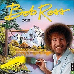 Kalendarz Official Bob Ross The Joy of Painting 2018 Wall Calendar Kalendarze książkowe