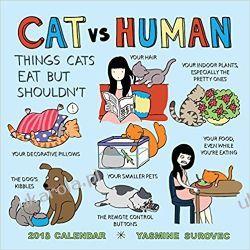 Kalendarz Cat vs. Human 2018 Wall Calendar Pozostałe