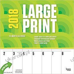 Kalendarz Large Print 2018 Wall Calendar Kalendarze ścienne