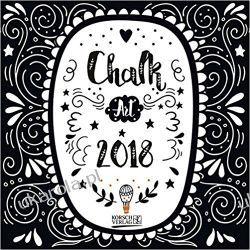 Kalendarz Chalk Art 2018 Calendar Książki i Komiksy