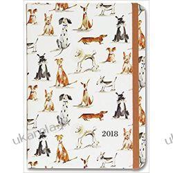 Kalendarz Książkowy Psy 2017-2018 Dog Days Weekly Planner Calendar