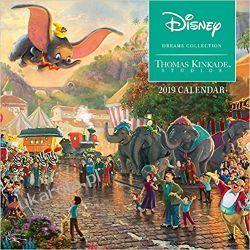 Mini Kalendarz Thomas Kinkade: The Disney Dreams Collection 2019 Mini Wall Calendar