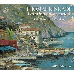 Kalendarz Thomas Kinkade Painting on Location 2019 Deluxe Wall Calendar Kalendarze ścienne