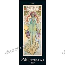 Kalendarz Art Nouveau 2019 Calendar Sztuka Kalendarze książkowe