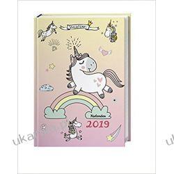 Kalendarz książkowy Unicorn Planner Calendar Jednorożec 2019