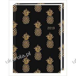 Kalendarz książkowy Ananasy 2019 Golden Pineapples Planner Calendar