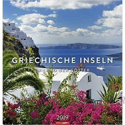 Kalendarz Greckie wyspy 2019 Greek Islands Calendar