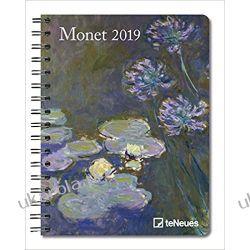 Kalendarz książkowy Notatnik Sztuka Monet 2019 Planner Art Calendar