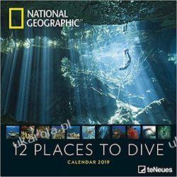 Kalendarz Nurkowanie National Geographic 12 Places to dive 2019 NG Calendar Kalendarze ścienne