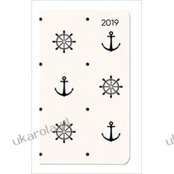 Kalendarz książkowy Morze Biały Kotwice Ladytimer Slim Maritime 2019 Calendar