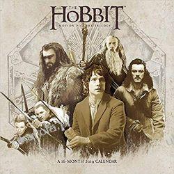 Kalendarz The Hobbit 2019 Calendar: Motion Picture Trilogy