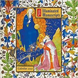 Kalendarz British Library - Illuminated Manuscripts Wall Calendar 2019 Kalendarze książkowe