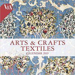 Kalendarz V&A - Arts & Crafts Textiles Wall Calendar 2019 Kalendarze ścienne