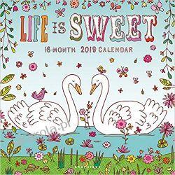 Kalendarz Life Is Sweet 2019 Square Wall Calendar Kalendarze ścienne