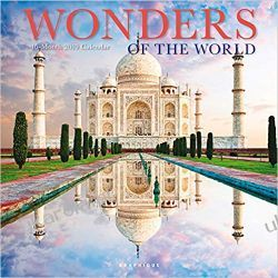 Kalendarz Wonders of the World 2019 Square Wall Calendar