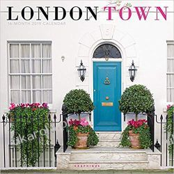 Kalendarz Londyn London Town 2019 Square Wall Calendar