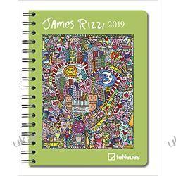 Kalendarz książkowy 2019 James Rizzi Deluxe Diary 16.5 x 21.6 cm calendar