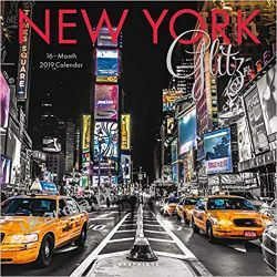 Kalendarz New York Glitz 2019 Square Wall Calendar
