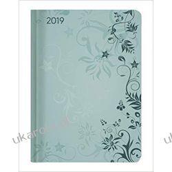 Kalendarz książkowy Ladytimer Turquoise Flowers 2019 calendar A6