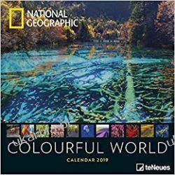 Kalendarz National Geographic Colourful World 2019 Calendar