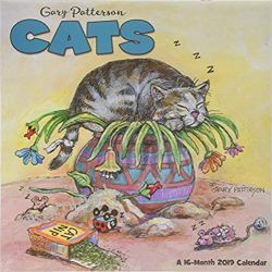 Kalendarz Koty Gary Patterson Cats 2019 Calendar Książki i Komiksy
