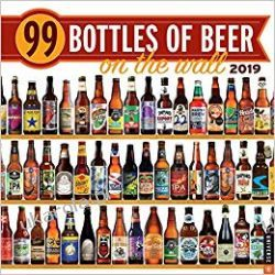 Kalendarz dla fanów piwa 99 Bottles of Beer on the Wall 2019 Wall Calendar