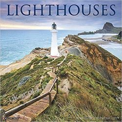 Kalendarz latarnie morskie Lighthouses 2019 Wall Calendar