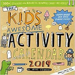 Kalendarz Kid's Awesome Activity Wall Calendar 2019 Pozostałe