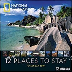 Kalendarz National Geographic 12 Places to stay 2019 Calendar