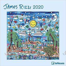 Kalendarz James Rizzi 2020 Calendar Książki i Komiksy