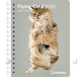Kalendarz Flying Cats 2020 Diary Calendar latające koty Kalendarze książkowe