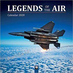 Kalendarz Legends of the Air Wall Calendar 2020 lotnictwo wojskowe Kalendarze ścienne