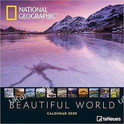Kalendarz National Geographic Beautiful World 2020 Calendar Książki i Komiksy
