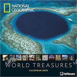 Kalendarz National Geographic World Treasures 2020 Calendar 30x30 cm Książki i Komiksy