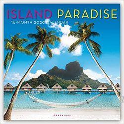 Island Paradise 2020 Square Wall Calendar rajskie wyspy