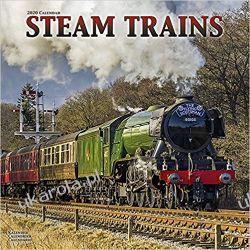Kalendarz Steam Trains Calendar 2020 kolej lokomotywy parowe