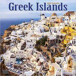 Kalendarz Greek Islands Calendar 2020 wyspy greckie  Książki i Komiksy