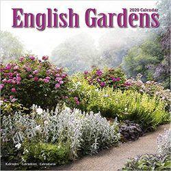 Kalendarz English Gardens Calendar 2020 angielskie ogrody Książki i Komiksy