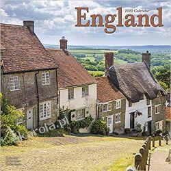 Kalendarz England Calendar 2020 Anglia Książki i Komiksy