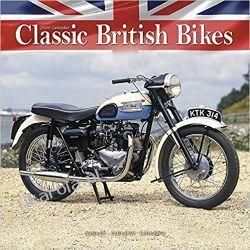 Classic British Bikes Calendar 2020 motory brytyjskie Książki i Komiksy
